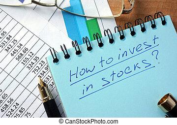 Cómo invertir en acciones