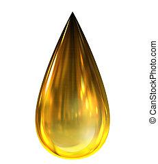 Caída de aceite con reflejos