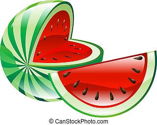 Cañón de frutas de sandía