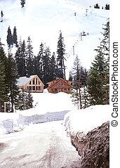 Cabaña de esquí