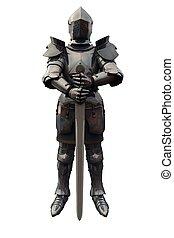 caballero, decimoquinto, espada, siglo