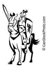 caballero, jinete caballo