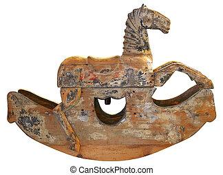 Caballo antiguo de madera