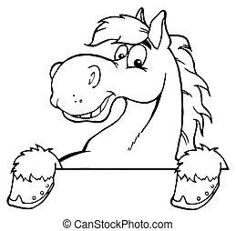 caballo, contorneado