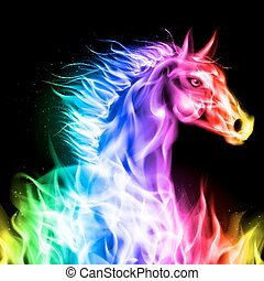 Caballo de fuego colorido.