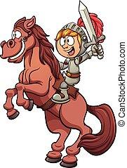 Caballo montando un caballo