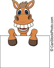 caballo, muestra en blanco