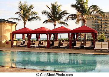Cabana en un complejo sur de Florida