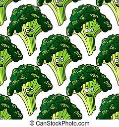 Cabeza de brocoli sano fresco sin costura