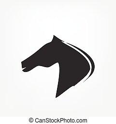 Cabeza de caballo - ilustración vectorial