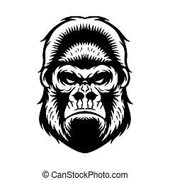 Cabeza de gorila BW