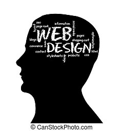 Cabeza de silueta, diseño web