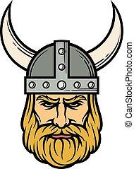 Cabeza de vikingo.