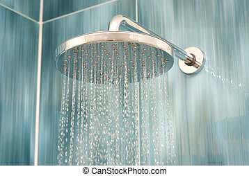cabeza, ducha
