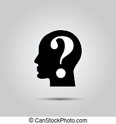 Cabeza humana con signo de interrogación