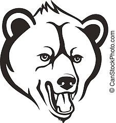 cabeza, oso