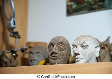 Cabezas de marioneta sicilianas