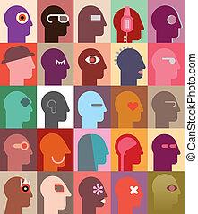 cabezas, humano