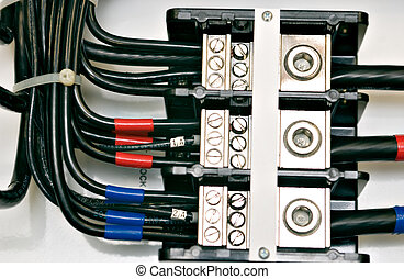 cableado, panel