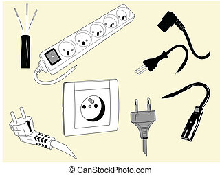 Cables eléctricos y enchufes