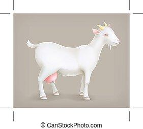 Cabra, vector icono