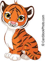cachorro de tigre, lindo