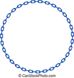 Cadena azul en forma de círculo