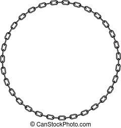 cadena, círculo, oscuridad, forma