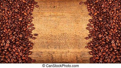 Café asado en madera rústica