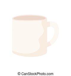 café blanco, taza