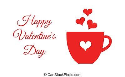 Café de San Valentín o taza de chocolate.