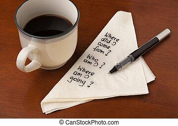 café, filosófico, preguntas