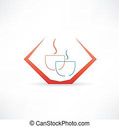 Café para dos iconos