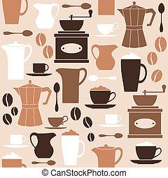 café, retro, plano de fondo