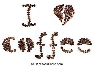café, tipografía