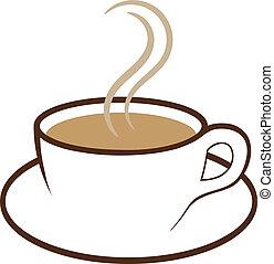 café, vector, taza