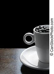 Café y frijoles