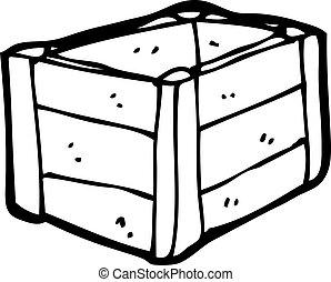 cajón de madera, caricatura