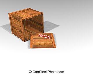 cajón, de madera