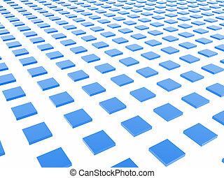 caja azul, cuadrícula
