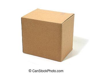 caja, cartón, blanco