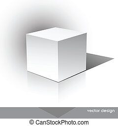 caja, cube-shaped, software, paquete