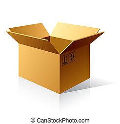 Caja de cartón vacía