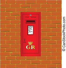 Caja de correos montada en la pared