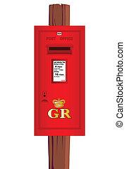 Caja de correos montada.