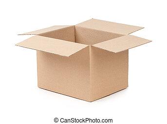 Caja de paquetes abierta