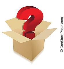 caja, desconocido, concepto, contenido