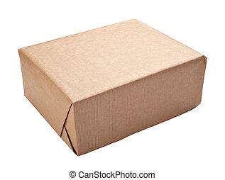caja, envoltura, contenedor, paquete