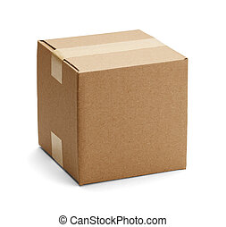 caja, marrón, cartón
