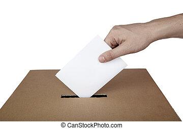 caja, opción, elección, voto, política, votación, papeleta